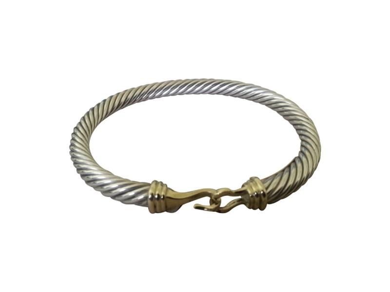 David Yurman 14K Yellow Gold & Sterling Silver Buckle Bracelet