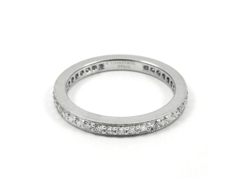 Tiffany & Co. Platinum Legacy 2mm Eternity Diamond Band 0.40ct Ring