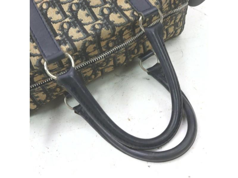 Christian Dior Navy Monogram Trotter Boston Bag 8630110
