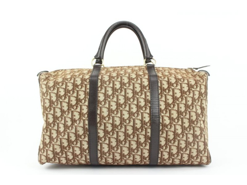Dior Brown Monogram Trotter Boston Duffle Bag 776da41
