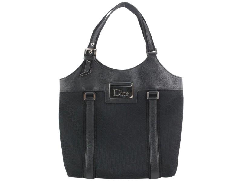 Dior Black Monogram Trotter Street Chic Tote 376da525