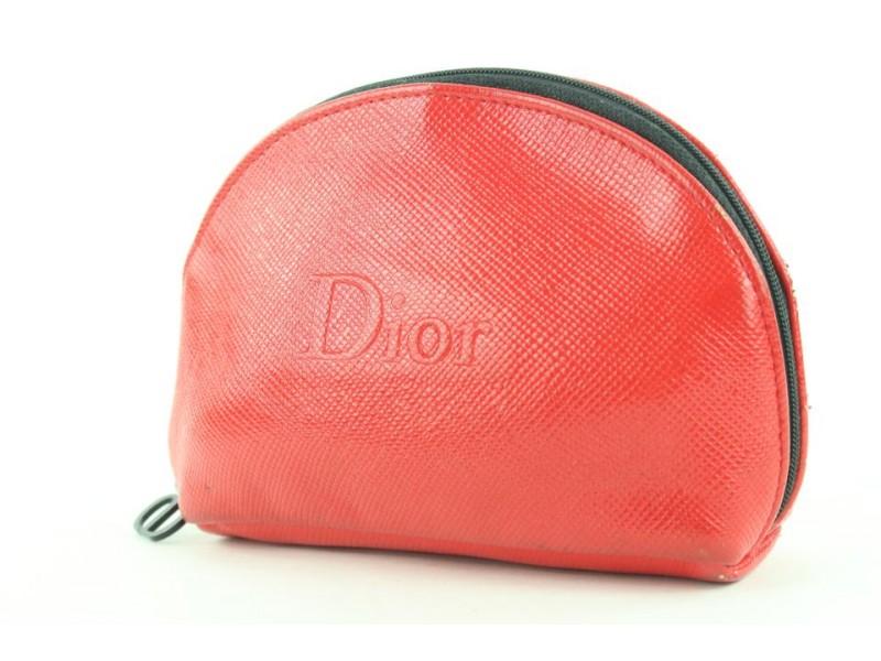 Dior Beaute Red Cosmetic Pouch Make Up Case 170da25