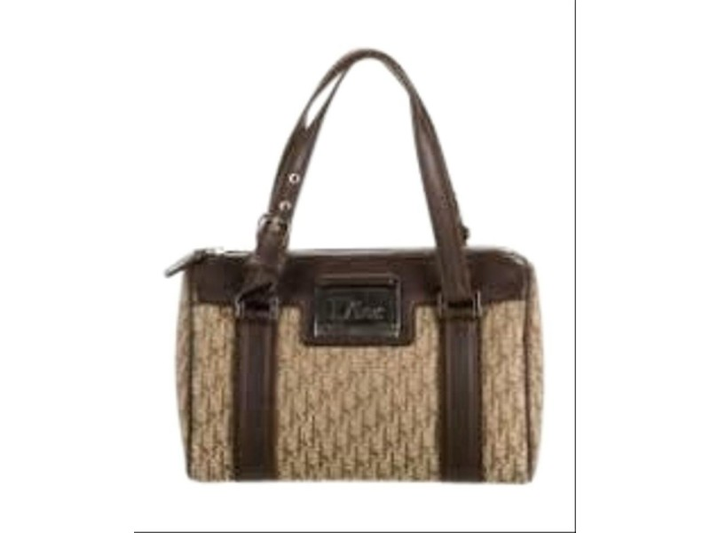 Dior Street Chic Boston Monogram Trotter Satchel 1da518 Brown Canvas and Leather Weekend/Travel Bag