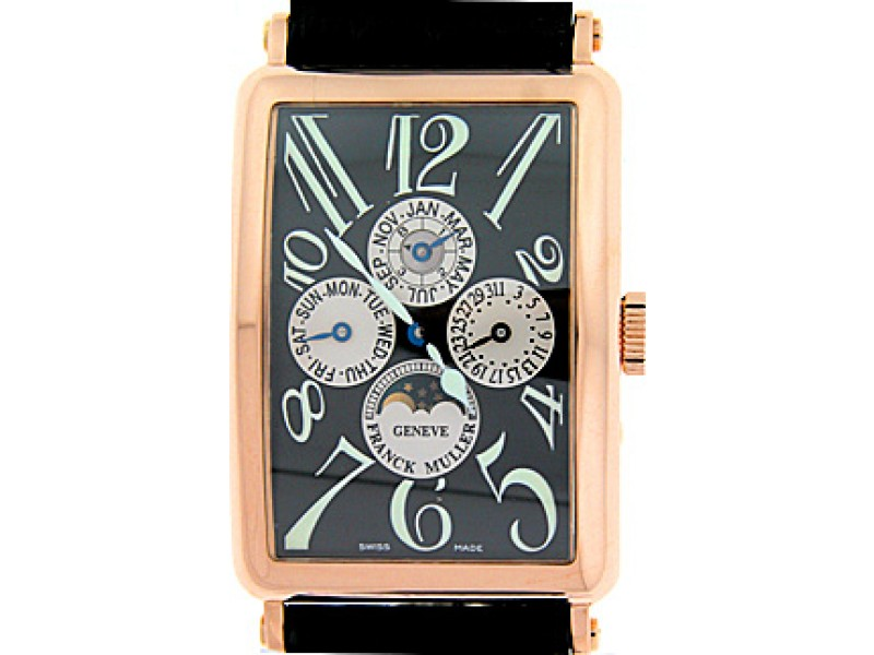 "Franck Muller ""Long Island"" Perpetual Calendar"" 18K Rose Gold Mens Watch"