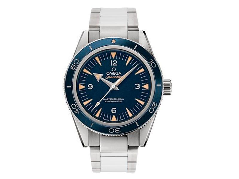Omega Seamaster 300 23390412103001 Blue Dial Titanium 41mm Mens Watch