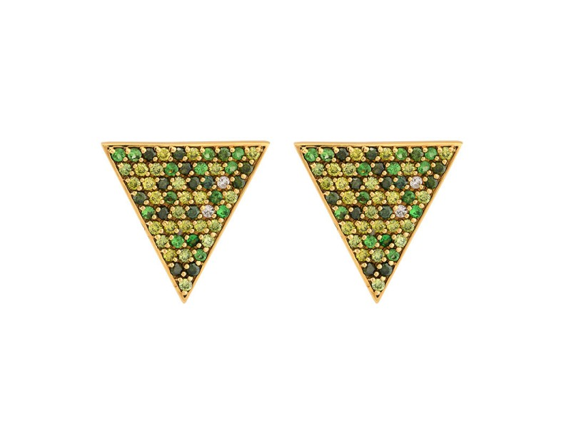 Sahara Post Yellow Gold Earrings