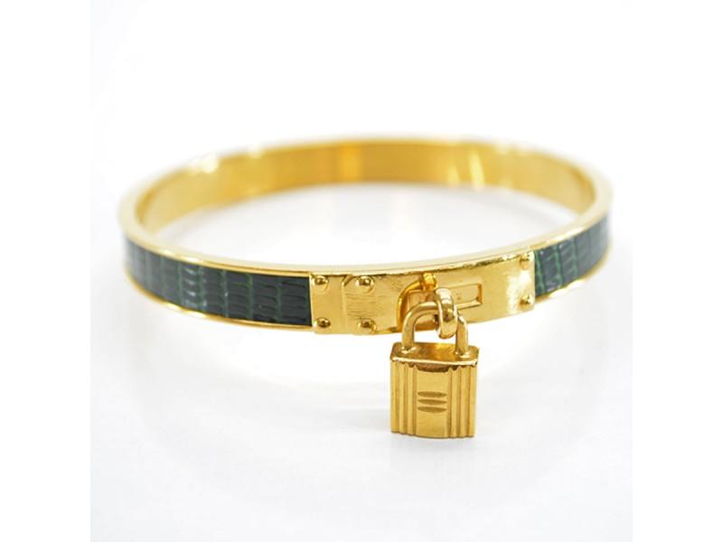 Hermes Metal and Leather bangle bracelet