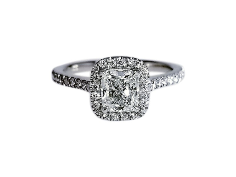 Platinum with 1.04ctw. Engagement Ring Size 6.5