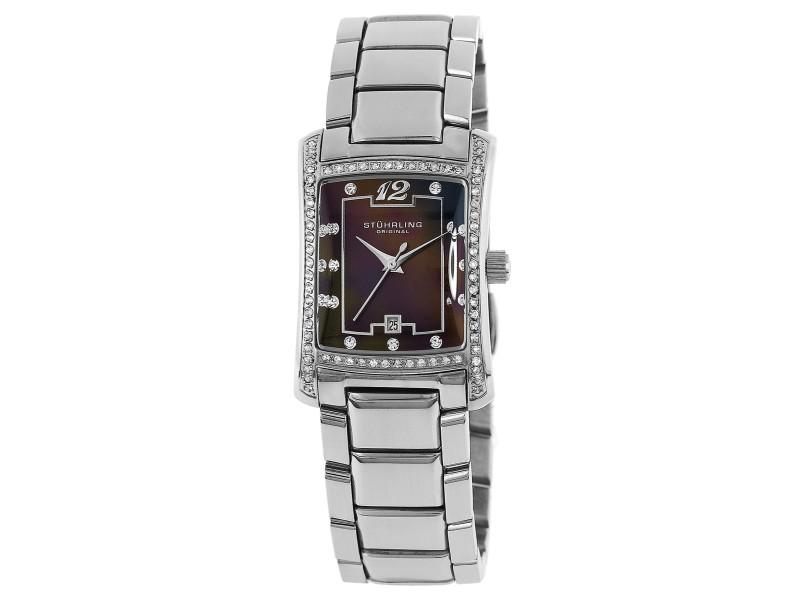 Stuhrling Gatsby High Society 145CB.121127 Stainless Steel 23mm x 30mm Watch