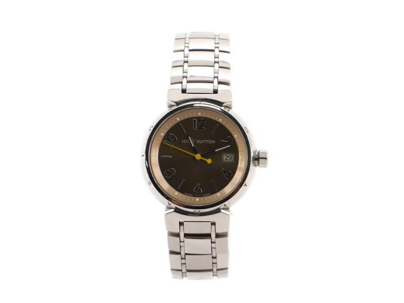 Louis Vuitton Tambour Quartz Watch Stainless Steel 28