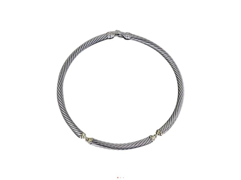 David Yurman 14K Yellow Gold & Sterling Silver Choker Necklace
