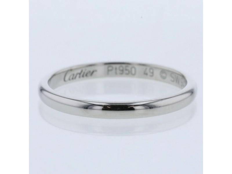CARTIER Platinum Wedding Ring TBRK-627