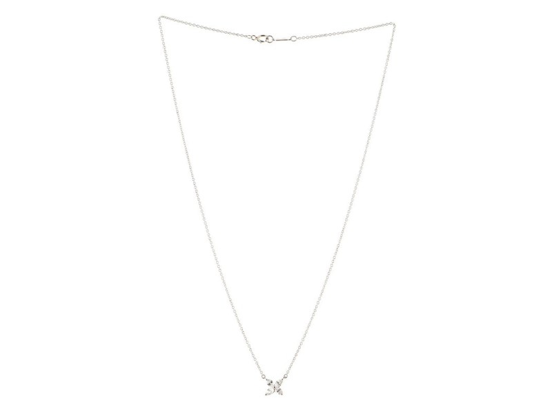 Tiffany & Co. Victoria Pendant Necklace Platinum and Diamonds Small