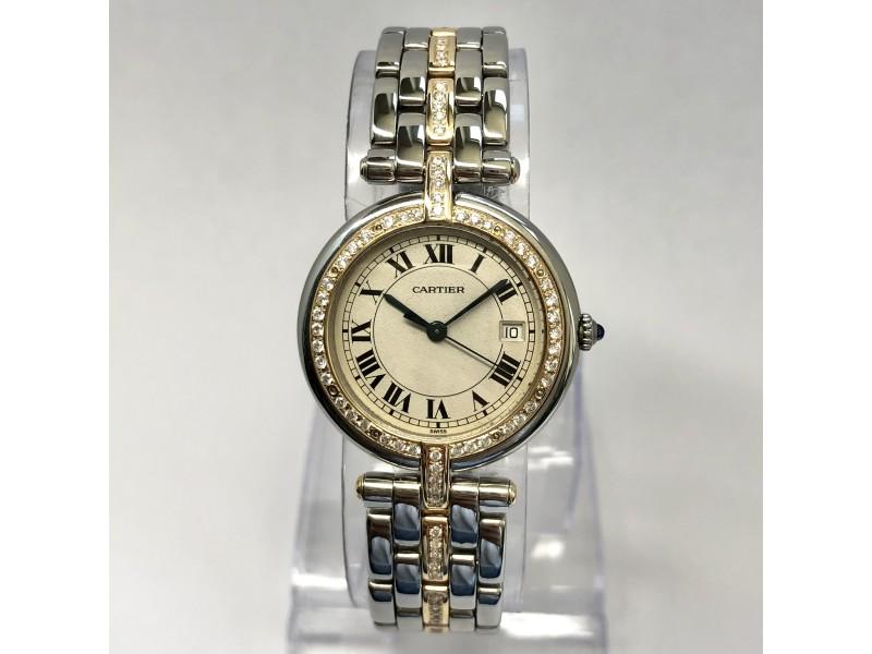 CARTIER PANTHERE VENDOME 30mm Quartz 18K Gold & Steel Watch