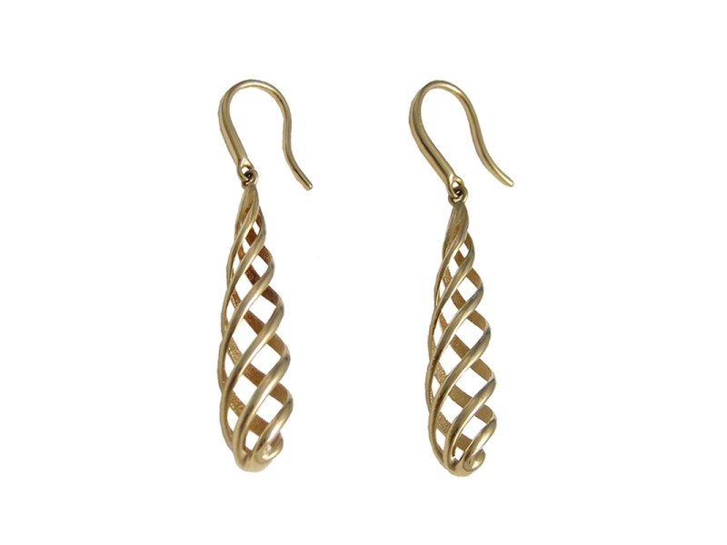 Tiffany & Co. 18K Gold Picasso Venezia Luce Earrings