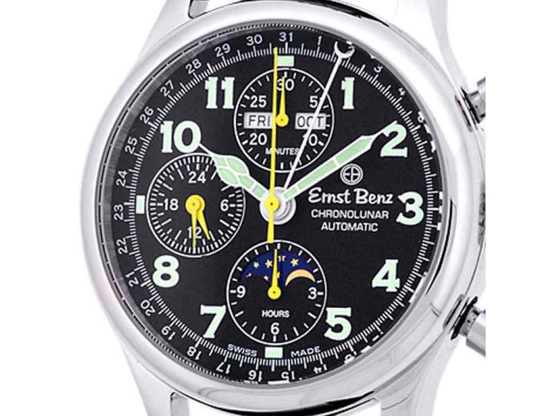 "Ernst Benz ""ChronoLunar"" Stainless Steel Mens Watch"