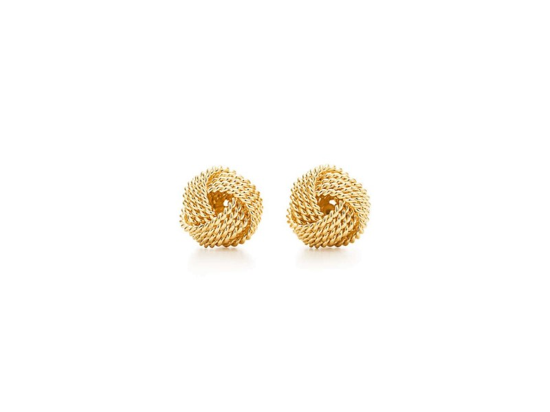 Tiffany Co 18k Yellow Gold Twist Knot Earrings