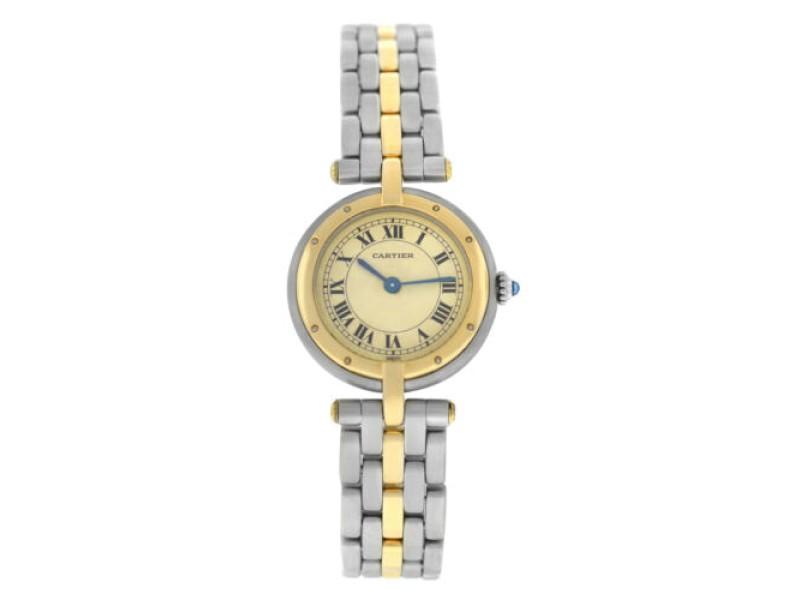 Ladies' Cartier Panthere Vendome 1057920 One Row Gold Steel Quartz 24MM Watch