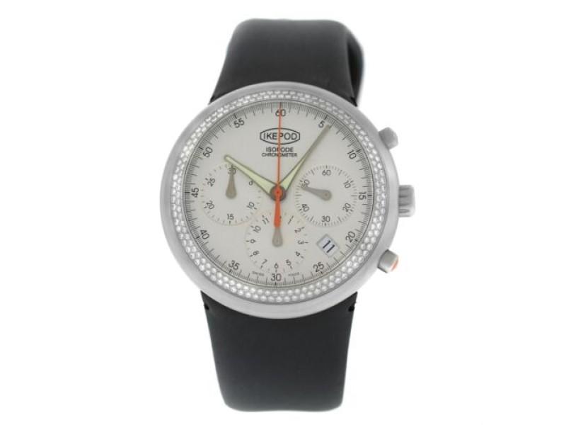 Unisex Ikepod Isopode Chronograph 9999 Limited Marc Newson Diamond 39MM Watch