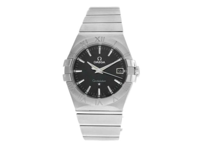 Men's Unisex Omega Constellation 123.10.35.60.01 Steel Quartz 35MM Watch
