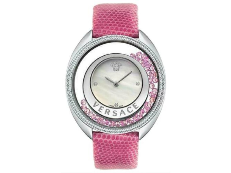 New Versace Destiny Spirit 86Q951MD497 S111 Floating Crystals 38MM Diamond Watch