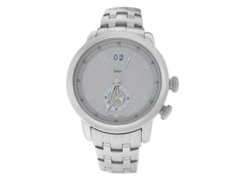 Mens Tourneau Safari S35010 Dual Time Zone 43MM Quartz Date Watch