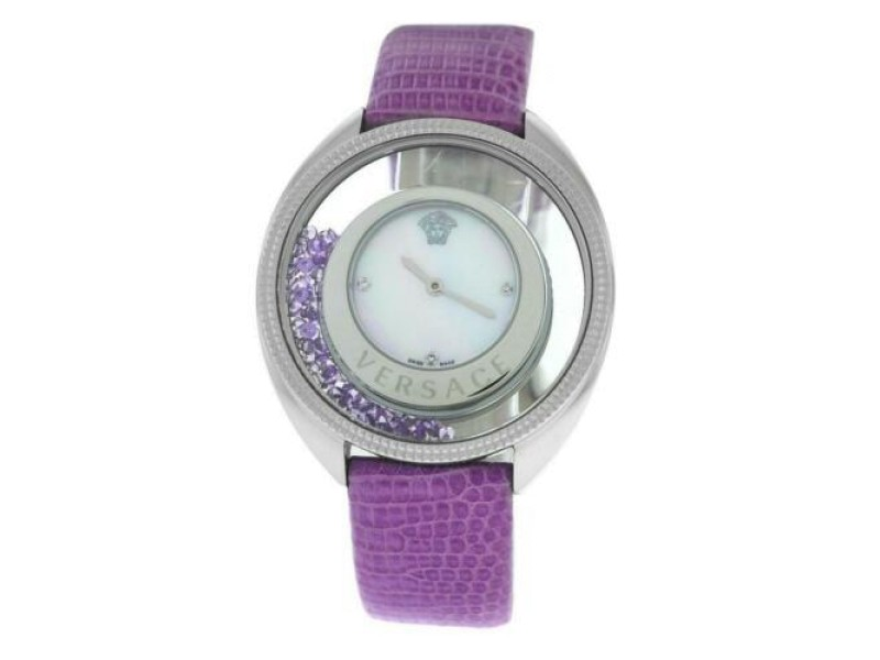 Versace Destiny Spirit MOP Floating Crystals Quartz Watch 38MM  86Q953MD497 S702