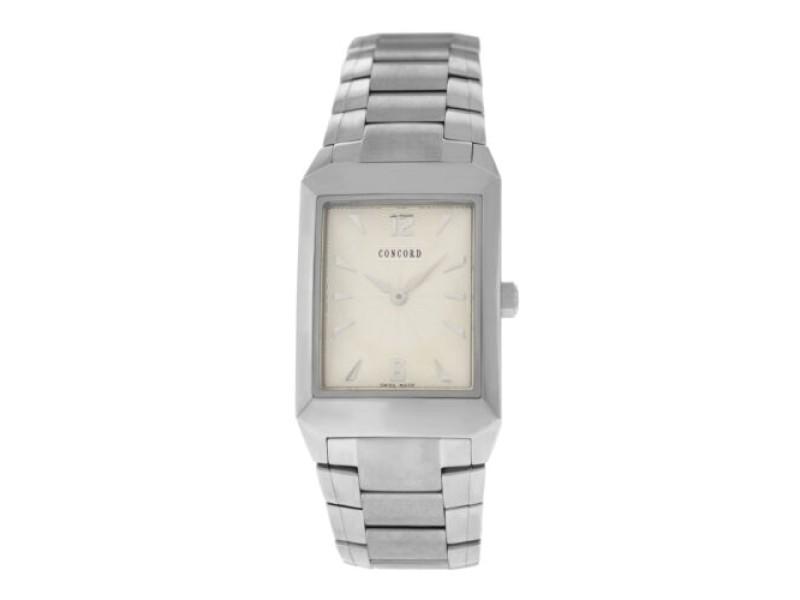 New Men's Concord Carlton 14.E6.1450.1 Steel 37MM x 27MM Quartz $1,750 Watch