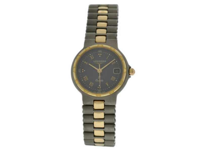 Ladies' Longines Conquest Ti Gold Titanium 24MM Quartz Watch