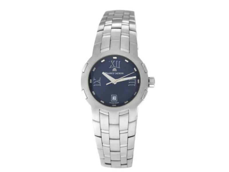 New Lady Maurice Lacroix Milestone MS1013-SS002-310 Steel $1550 Quartz Watch