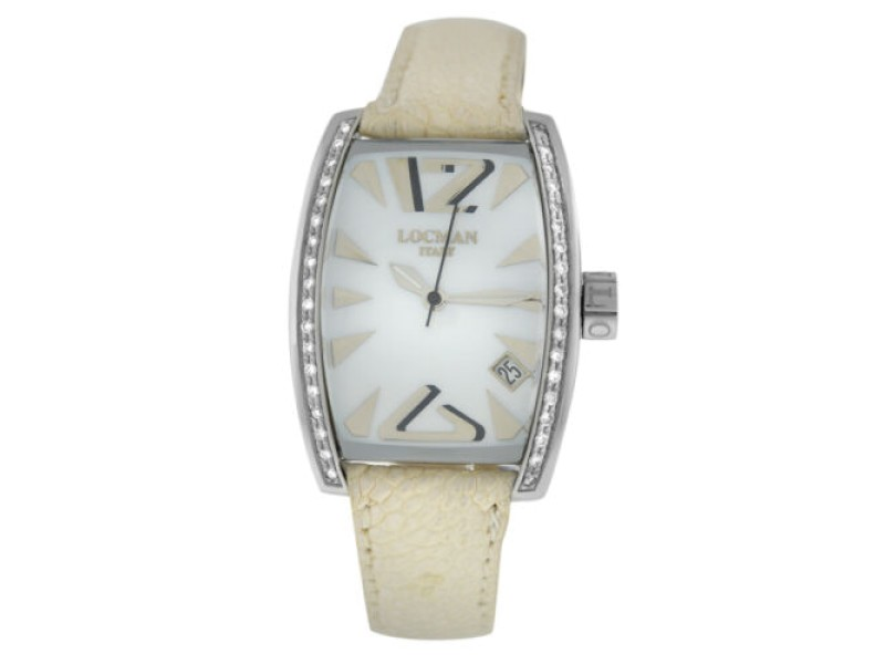 New Locman Panorama Diamond MOP Steel Ladies' Ref. 151 Quartz 28MM Watch