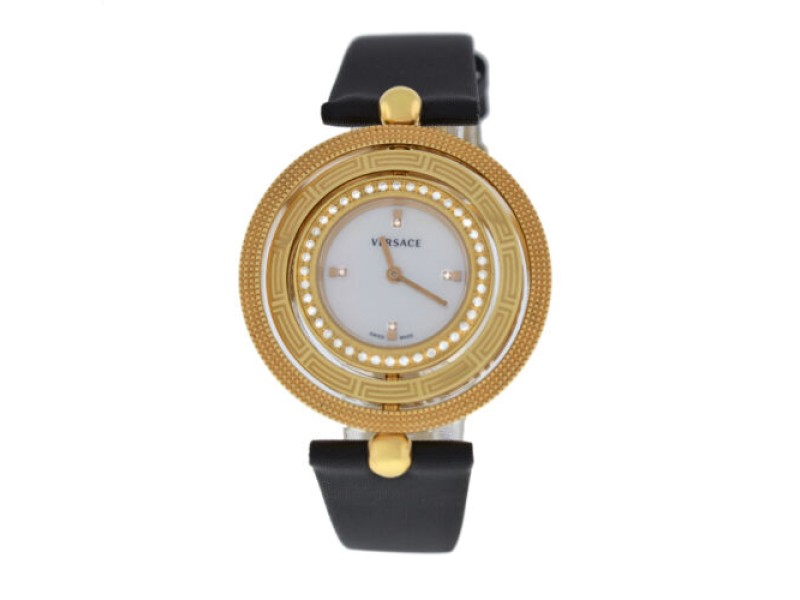Versace EON 80Q81SD498 S009 Gold Tone Diamond Quartz 38MM MOP Watch