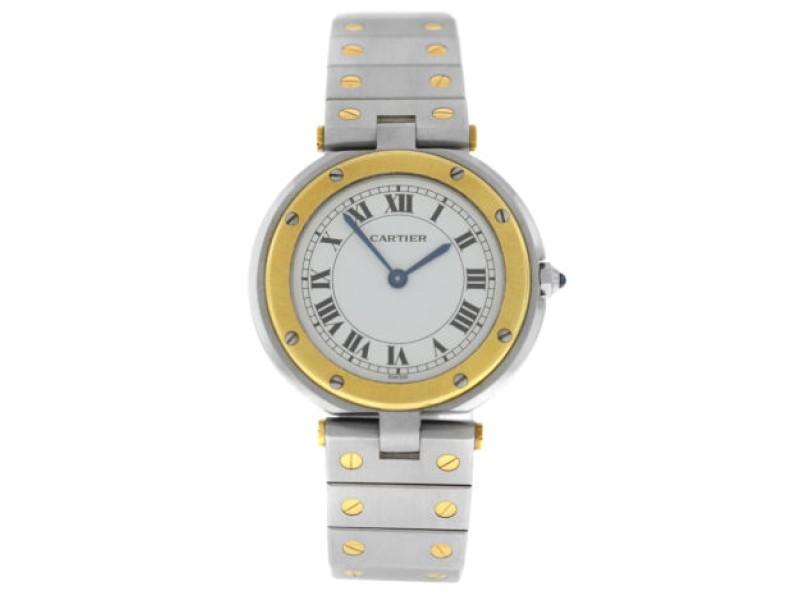 Cartier Santos Ronde Men's Unisex 32MM 18K Yellow Gold Quartz Watch