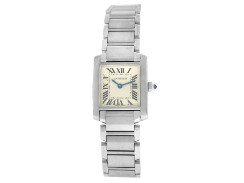 Cartier Tank Francaise 2384 Ladies' Quartz 20MM Stainless Steel Watch