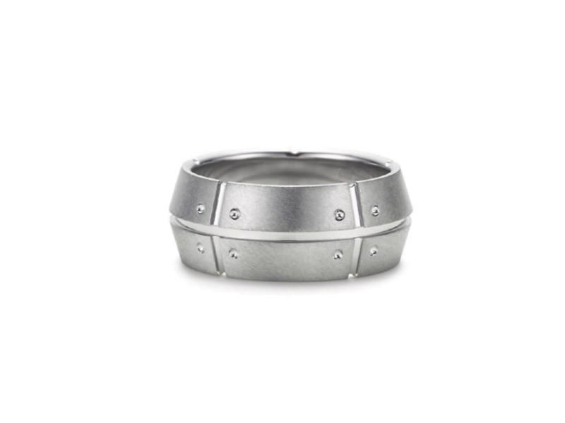 Tiffany & Co. Streamerica 18K White Gold & Diamond Ring