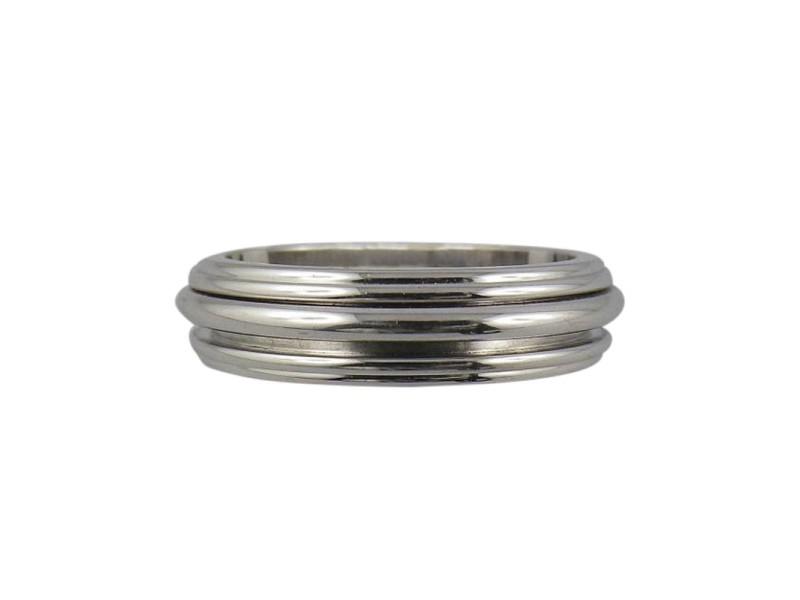 18K White Gold Ring Size 5.25