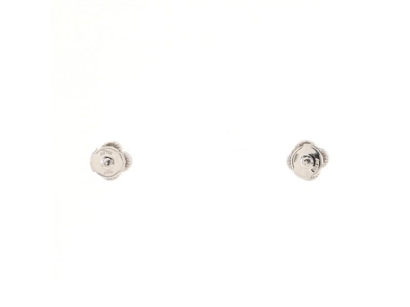 Van Cleef & Arpels Sweet Alhambra Stud Earrings 18K White Gold and Diamonds