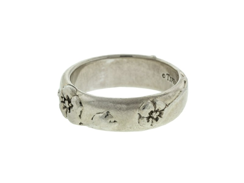 Tiffany & Co. Sterling Silver Flower Ring