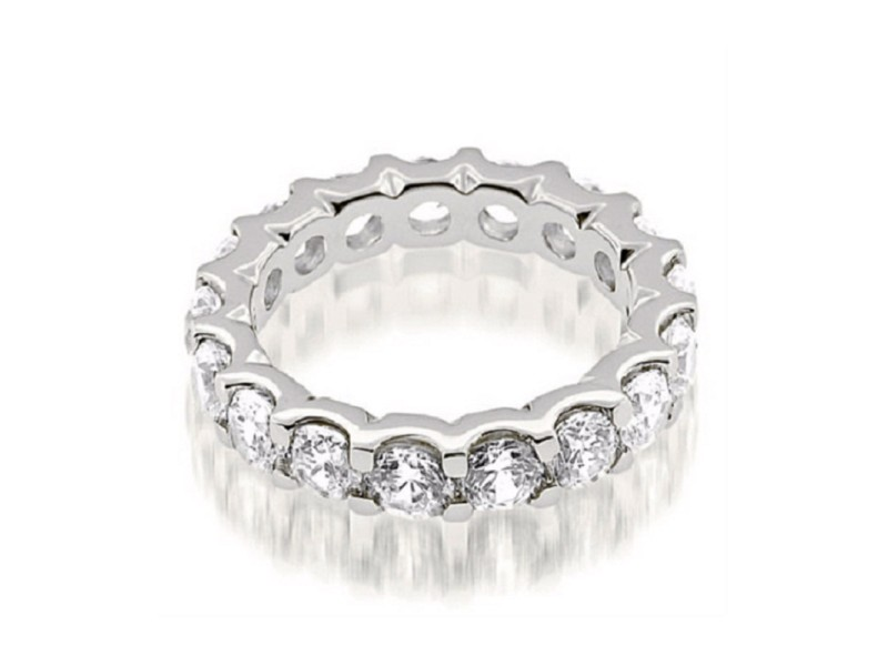 18K White Gold & Diamond Eternity Band Ring