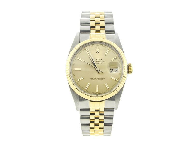 Rolex 36MM Two-Tone Datejust Jubilee Band 16013 Mens Watch
