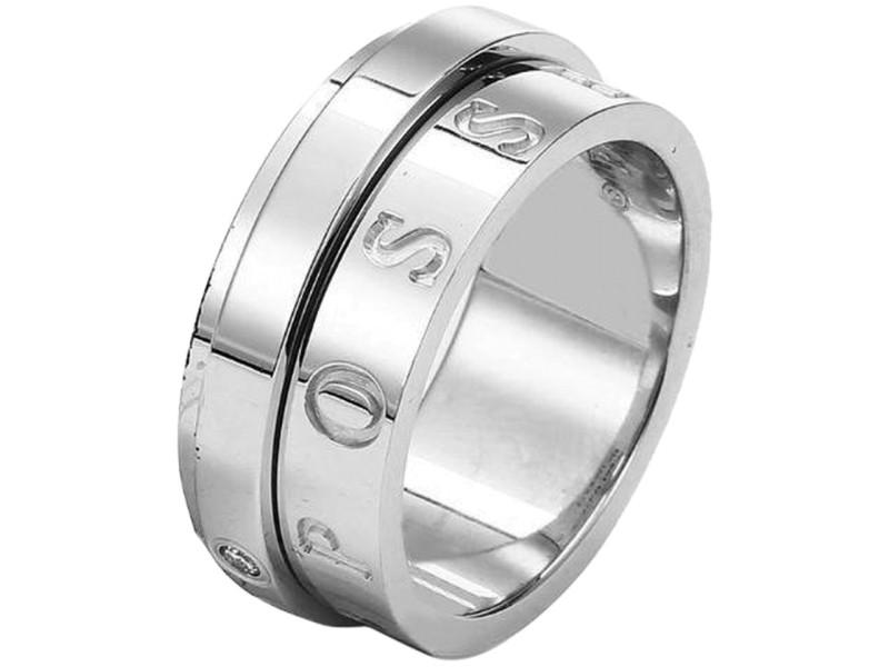 Piaget 18K White Gold Diamond Ring Size 6.5