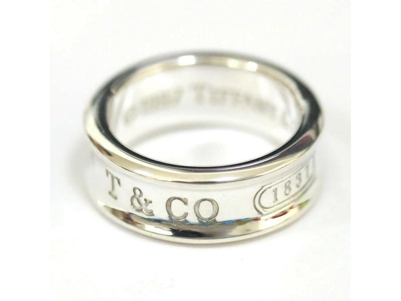 Tiffany & Co. Silver 1837 Narrow Ring