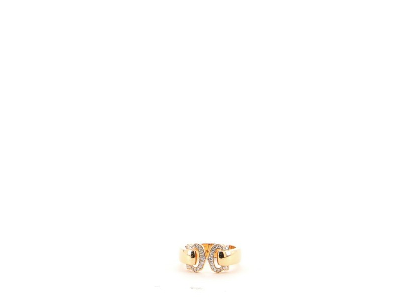 Cartier C de Cartier Ring 18K Rose Gold and Diamonds