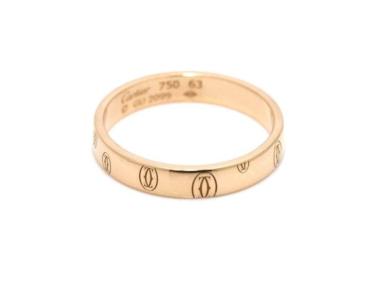Cartier 18K Rose gold Happy Birthday Logo Ring