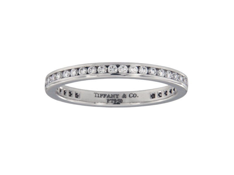 Tiffany & Co. Eternity Platinum Diamond Wedding Ring Size 7