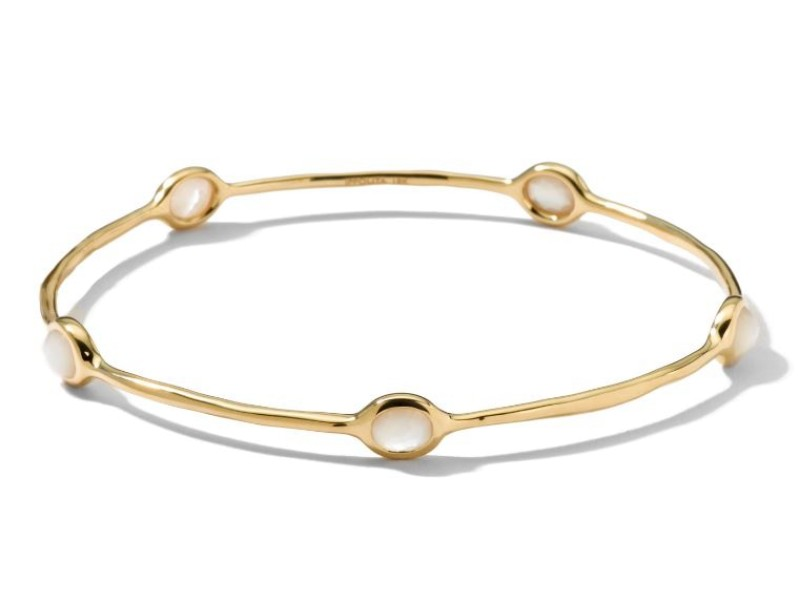Ippolita Lollipop 18K Yellow Gold with Mother of Pearl Bangle Bracelet