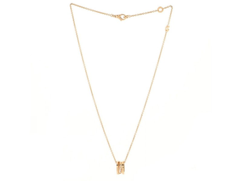 Bvlgari B.Zero1 Legend Pendant Necklace 18K Rose Gold