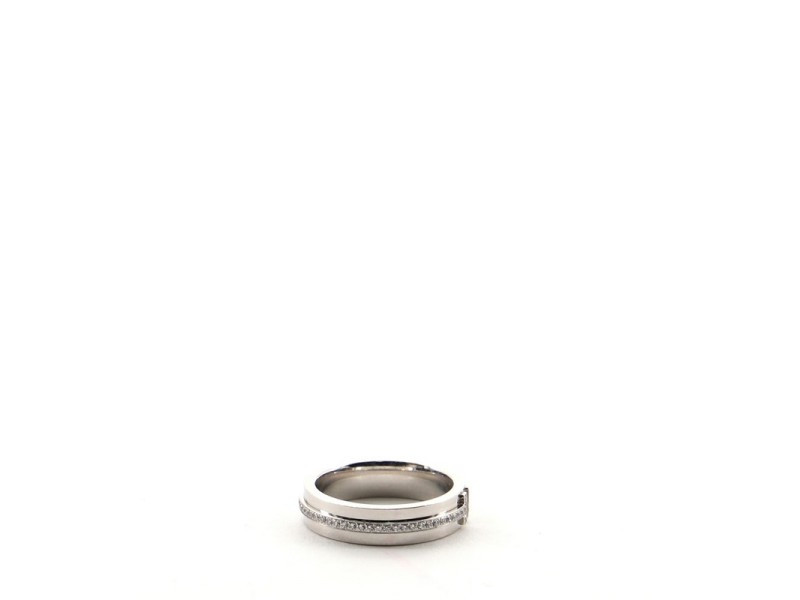 Tiffany & Co. T Two Ring 18K White Gold and Diamonds Narrow