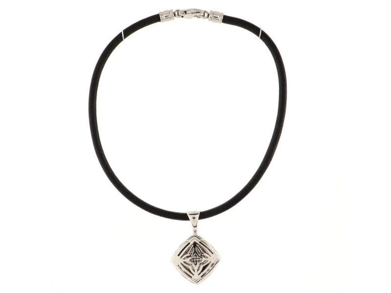 Bvlgari Piramide Pendant Necklace 18K White Gold with Diamonds