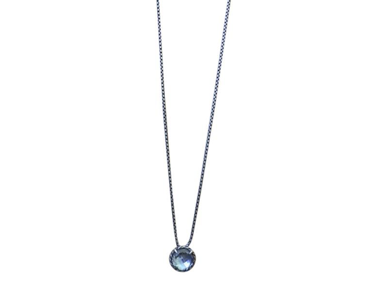 David Yurman Chatelaine Sterling Silver Topaz Necklace